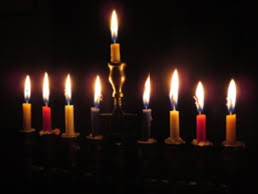 A Hanukkah menorah - let the light shine in the darkness