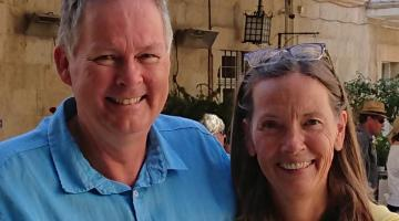 Garth and Vibeke Gilmour in Jerusalem
