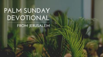 Palm Sunday Devotional