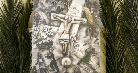 White Cross, painting by Marc Chagall
