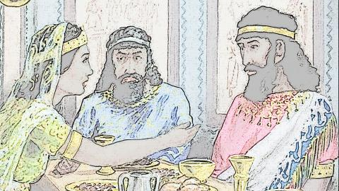 The banquet of Esther, Haman and King Ahasarus