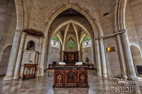 inside of Christ Church Jerusalem