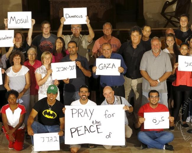 Pray for the peace of Jerusalem, Gaza, Tel Aviv, Mosul...