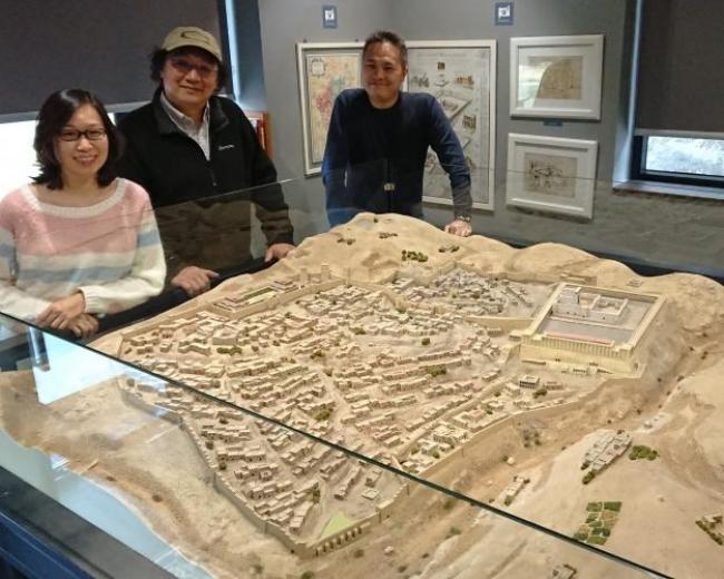 A model of Jerusalem in the 1st century AD.