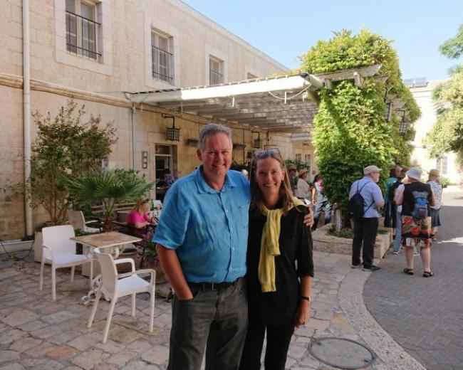Garth and Vibeke Gilmour at Christ Church Jerusalem