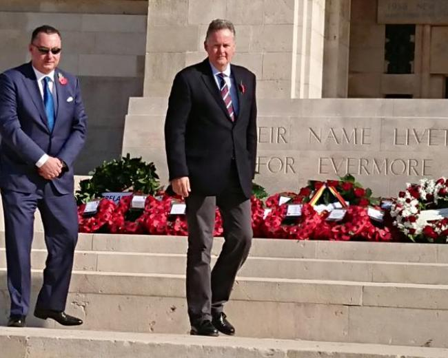 Wreath laying Armistice Day