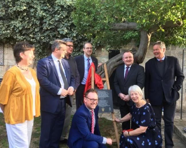 Welsh plaque unveiling at Christ Church Jerusalem
