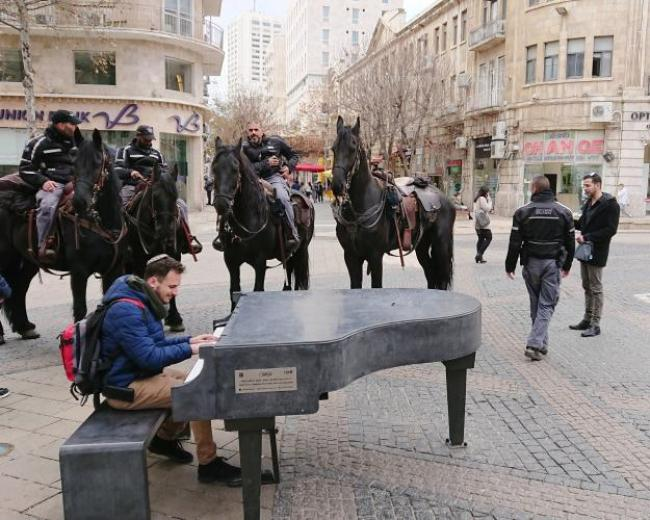 Music and Police in Downtown Jerusalem
