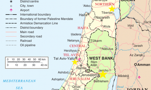 CMJ Israel's Locations in the Land